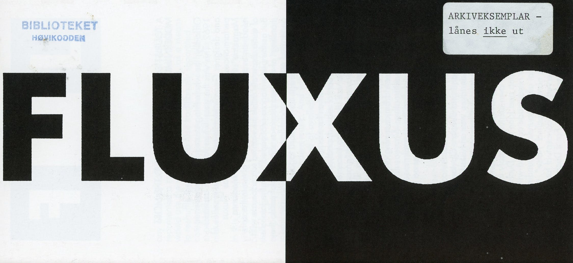 Fluxus001
