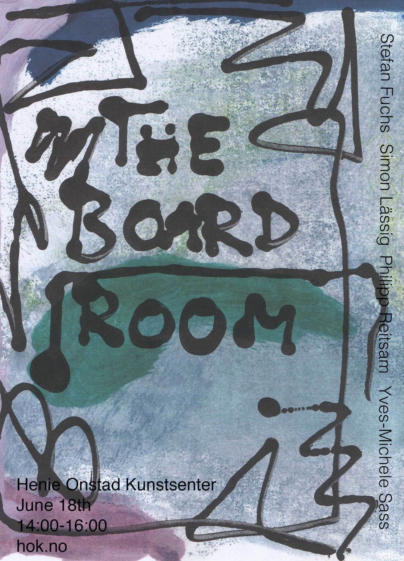 Flyer The Board Room med tekst