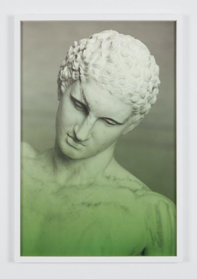 Espen Gleditsch Athlete 2017 40x60 cm archival pigment print foil on glass