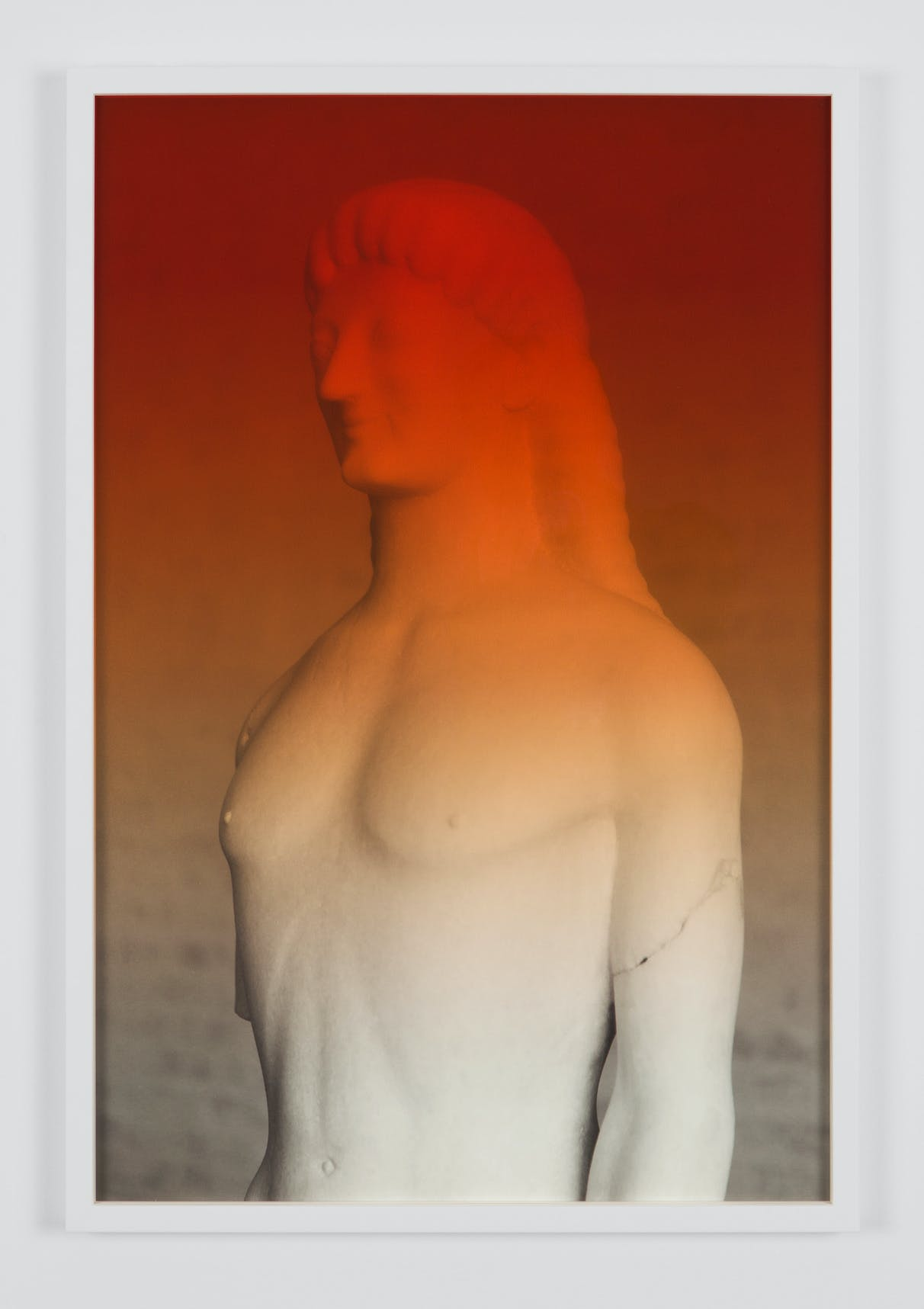 Espen Gleditsch Kouros of Tenea 2017 40x60 cm archival pigment print foil on glass