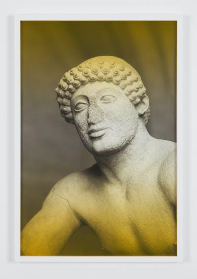 Espen Gleditsch Young Man in the first Trojan war 2017 40x60 cm archival pigment print foil on glass