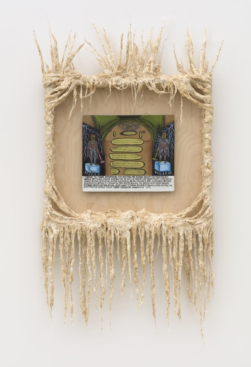 2021 I want to thank the cucumbers Retablo 46 x 22 5 x 6 inches